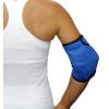 Elbow ice wrap on woman back view
