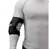 Black elbow ice wrap on man